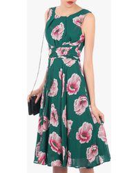 Jolie Moi Floral Print Midi Dress - Green