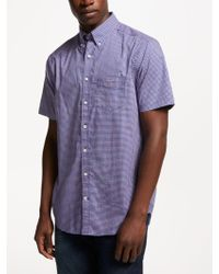 GANT - Regular Broadcloth Check Short Sleeved Shirt - Lyst