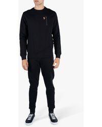 Luke 1977 Paris Crew Neck Zip Pocket Sweatshirt - Black