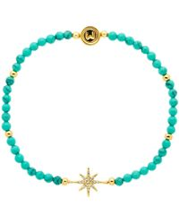 Melissa Odabash - Turquoise And Crystal Star Stretch Bracelet - Lyst