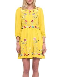 French Connection - Saya Crepe Dress - Lyst