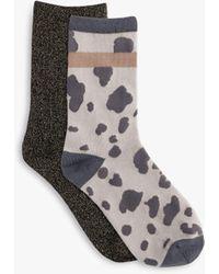 Tutti & Co Haze Bamboo Cotton Blend Socks - Grey