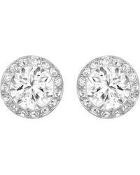 Swarovski - Angelic Crystal Post Earrings - Lyst