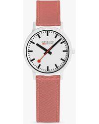 Mondaine Essence Ms132111 Textile Strap Watch - Multicolour