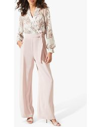 Phase Eight Gracen Palm Print Jumpsuit - Multicolour