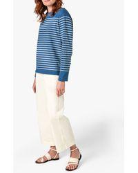 Jigsaw Breton Striped Sweatshirt - Blue