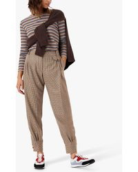 Brora Houndstooth Bombachos Wool Trousers - Multicolour