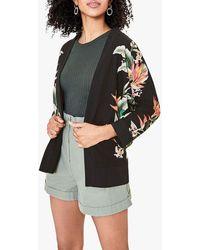 Oasis Tropical Print Kimono - Multicolour
