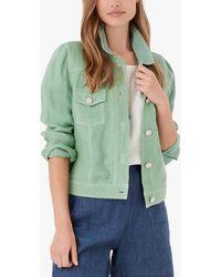Brora Linen Utility Jacket - Green
