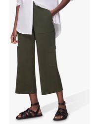 Whistles Ponte Cargo Trousers - Green