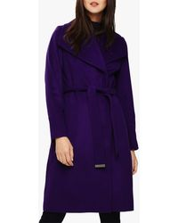 Phase Eight Nicci Belted Coat - Purple