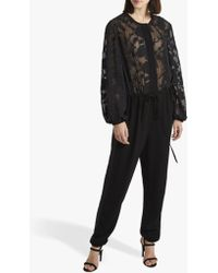 French Connection - Besse Puff Sleeve Jumpsuit - Lyst