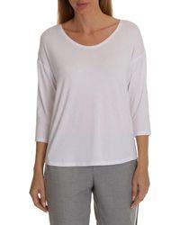 Betty Barclay Three-quarter Sleeve T-shirt - White