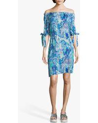 Betty Barclay Paisley Print Dress - Blue
