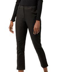 Warehouse Compact Cotton Trousers - Black