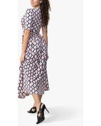 Jolie Moi Denise Geometric Bird Print Wrap Maxi Dress - Pink