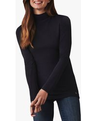Crew Second Skin Polo Neck Top - Blue