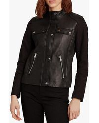 Ralph Lauren Lauren Combo Leather Jacket - Black