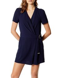 Karen Millen - Wrapped And Draped Playsuit - Lyst