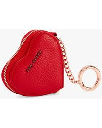 Ted Baker Kahi Leather Heart Coin Purse Keyring - Red