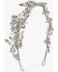 Ivory & Co. Starlit Sky Crystal And Cubic Zirconia Pave Side Headpiece - Metallic