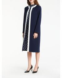 Bruce By Bruce Oldfield - Tipped Long Jacket - Lyst
