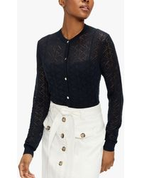 Ted Baker Heliina Embroidered Cardigan - Blue