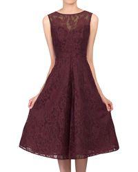 Jolie Moi Bonded Lace Prom Dress - Purple