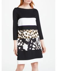 Marc Cain - Colour Block Printed Dress - Lyst
