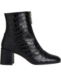 Whistles | Rowan Zip Front Ankle Boots | Lyst
