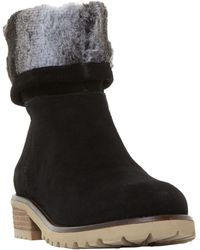 Steve Madden - Driller Faux Fur Cuff Ankle Boots - Lyst