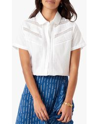 Brora Dobby Spot Cotton Shirt - White