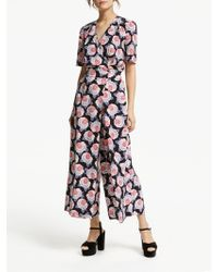 Somerset by Alice Temperley - Lace Floral Print Jumpsuit - Lyst