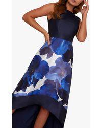 Chi Chi London Bray Floral Dress - Blue