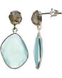 John Lewis - Semi-precious Stone Large Drop Earrings - Lyst
