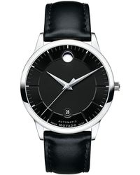 Movado - 0606873 Men's 1881 Automatic Date Leather Strap Watch - Lyst