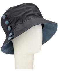Olney   Waxed Cotton Button Rain Hat   Lyst