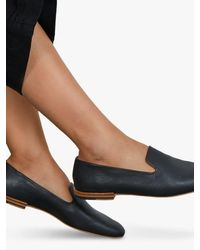Jigsaw Jane Soft Leather Loafers - Black