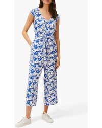 Phase Eight Nerissa Floral Print Jumpsuit - Blue
