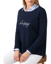 Pure Collection - Happy Motif Jumper - Lyst