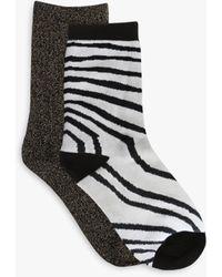 Tutti & Co Zebra Bamboo Cotton Blend Socks - Black