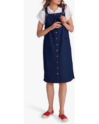 White Stuff Shelley Denim Pinny Dress - Blue