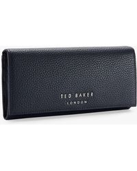 7571f4fd4 Ted Baker Darrah Leather Matinee Purse in Black - Lyst