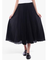 Jolie Moi Pleated Full Circle Midi Skirt - Black