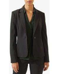 Jigsaw Seam Detail Paris Blazer Jacket - Black