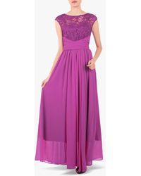 Jolie Moi - Boat Neck Lace Bodice Dress - Lyst