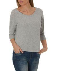 Betty & Co. Three-quarter Sleeve Jersey Top - Grey