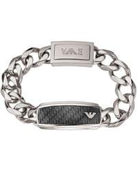 Emporio Armani | Men's Stainless Steel Chunky Chain Bracelet | Lyst