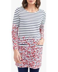 Joules - Quinn Long Sleeve Floral Tunic Dress - Lyst