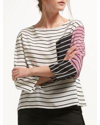 Marella - Rod Stripe Silk Blouse - Lyst